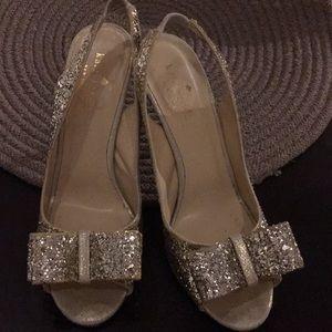 Kate Spade Sparkly Slingback Heels